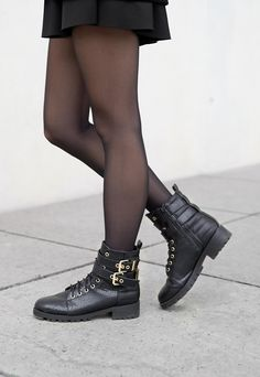 Allblackeverything Club Outfit – Glitter and Techno // Marina Tureczek Club Outfits, Dr. Martens, Techno, Combat Boots, Biker, Glitter, Shoes, Fashion, Dressing Up