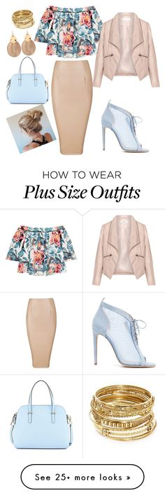 """Untitled #35"" by ali-sifet-r on Polyvore featuring Elizabeth and James, Chloe Gosselin, Zizzi, Kate Spade, Alexis Bittar and ABS by Allen Schwartz"