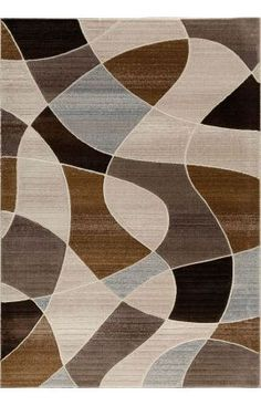 Central Oriental Providence Distorted Plaid Rug Textured Carpet Patterned Contemporary