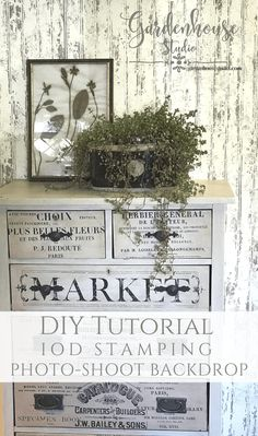 Diy Photography Backdrop made to look like old Farmhouse Beadboard with just stamps! Iod Chippy Paint Stamp and IOD Distress Stamp Iron Orchid Designs, Diy Home Accessories, Old Doors, My Furniture, Pad, Painted Doors, Milk Paint, Tutorial, Vintage Photography