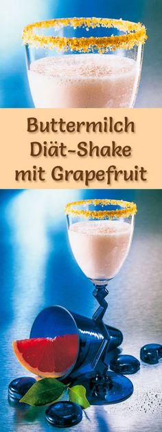 Buttermilch-Shake mit Grapefruit - ein Rezept mit viel Eiweiß und wenig Kalorien, perfekt zum Abnehmen, gesund und lecker ...