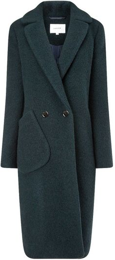 Pin for Later: With These Coats, You Won't Mind the Cold a Bit  Carven Dark Green Long Wool Pocket Coat ($1,070)