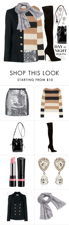 """""""Day to Night Sequin"""" by ivansyd ❤ liked on Polyvore featuring Topshop, MaxMara, Mansur Gavriel, Rimmel, Dolce&Gabbana, Yves Saint Laurent and Vera Bradley"""
