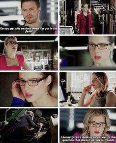 Do you get this anxious when I'm out in the field? <3 #Olicity