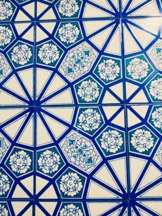 이태원 이슬람 사원에서 찍은 타일