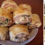 Strudel with ham and cheese Slovak Recipes, Czech Recipes, Russian Recipes, Ethnic Recipes, Cheese Recipes, Seafood Recipes, Food Network Recipes, Cooking Recipes, Pizza