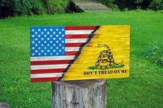Wood American Flag, Don't tread on me, Flag, American Flag, Rustic Flag, Gadsden Flag, USA flag, Repurposed Flag, distressed flag by JWCraftsmanStore on Etsy https://www.etsy.com/listing/456304234/wood-american-flag-dont-tread-on-me-flag