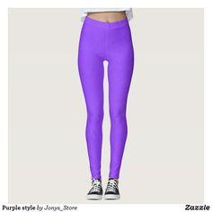 5aa9cd9b679e7 Purple style leggings Purple Fashion, Running Tights, Leggings Fashion,  Purple Style, Yoga