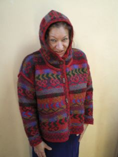 I changed the hood design on this Missoni hoodie to fit close around the face.