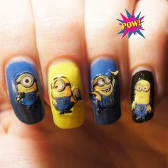 You get three little nail polishes, a cute nail file and a decent amount of minion stickers in the box. Description from pownails.co.uk. I searched for this on bing.com/images