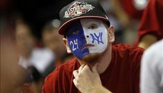 Kyle Fraser wears face paint as he attends a Major League Baseball All-Star game in Phoenix, Arizona July 12, 2011. REUTERS/Joshua Lott (UNITED STATES - Tags: SPORT BASEBALL SOCIETY)