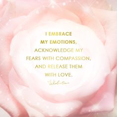 Quote: I embrace my emotions, acknowledge my fears with compassion, and release them with love. Positive Self Affirmations, Positive Mindset, Positive Attitude, Positive Thoughts, Positive Vibes, Positive Quotes, Quotes To Live By, Life Quotes, Psychology Quotes