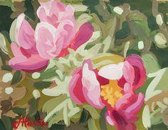 "Flowers - 8.5"" x 10.5"" - Original Acrylic Painting on Paper"