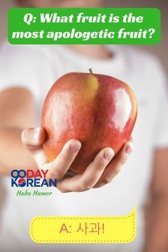 Comment if you can explain today's Korean joke about fruit!