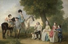 Johan Joseph Zoffany RA, 1733–1810, German, active in Britain (from 1760), The Drummond Family, ca. 1769, Oil on canvas, Yale Center for British Art, Paul Mellon Collection after treatment, cropped to image, recto
