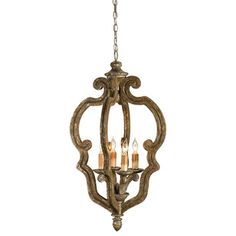 Shabby chic Chandeliers by Currey & Company, Inc.