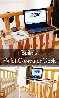 Build a Pallet Computer Desk | Pallet Furniture