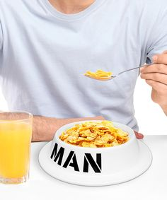 Look at this 'Man' Bowl on #zulily today!