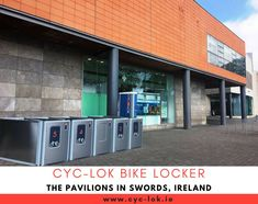 We are delighted to announce that we have installed a unit of Cyc-Lok bike locker system for our first shopping centre: The Pavilions in Swords at the heart of North Dublin, Ireland. With increasing numbers of cyclists and bike commuters, we believe we must have safe and secured bicycle parking facilities at a very low cost. 😃  #CycLok #BikeParking #Ireland #SwordsPavilions Bike Locker, Parking Solutions, Bike Parking, Commuter Bike, Cyclists, Dublin Ireland, Shopping Center, Swords, Pavilion