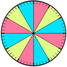 Clock face that separates the hour by colors- FREE visual
