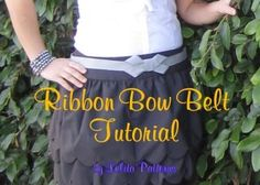 DIY BELT : DIY Ribbon Bow Belt