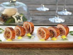 Lefseruller | Oppskrift - MatPrat Starters, Tapas, Sushi, Sausage, Cereal, Bacon, Meat, Breakfast, Ethnic Recipes