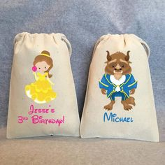 """Beauty and the Beast Party Beauty and the Beast Birthday Beauty and the Beast Party Favor Bags 5 """"x Set of 20 Bags Beauty And The Beast Theme, Beauty And The Best, Birthday Favors, 3rd Birthday Parties, Birthday Ideas, Happy Birthday, Belle And Beast, Barbie Party, Party Favor Bags"""