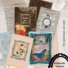 Set of 4 vintage covers for journals.Also,can be used as dividers. Vintage Journals, Love Only, Printable Paper, Dividers, Printables, Handmade, Free, Vintage Magazines, Hand Made