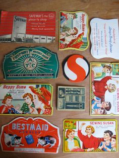 The graphics on these vintage needle books are amazing.