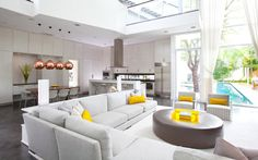 yellow and grey living room - Google Search