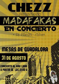 SÁBADO 31 DE AGOSTO CHESS EN CONCIERTO EN MESAS DE GUADALORA-CORDOBA