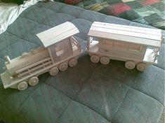Veľký vlak z vagónom / LadislavKurnota - SAShE. Wooden Toys, Car, Wooden Toy Plans, Wood Toys, Automobile, Woodworking Toys, Autos, Cars