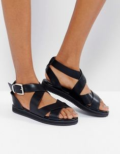 6d4b98ca2511 London Rebel Crossover Chunky Flat Sandal