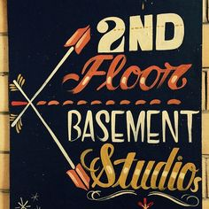 Basement Studio, Typography, Lettering, Sign Quotes, Arrows, Script, Calligraphy, Motivation, Words
