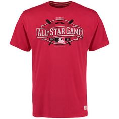Men s Mitchell  amp  Ness Red 2015 All-Star Game Logo T-Shirt Game 22b063c393ba