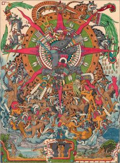 Machu Picchu, Aztec Calendar, Aztec Culture, Art Tribal, Inka, Mexico Art, Mesoamerican, Indigenous Art, Native American Art