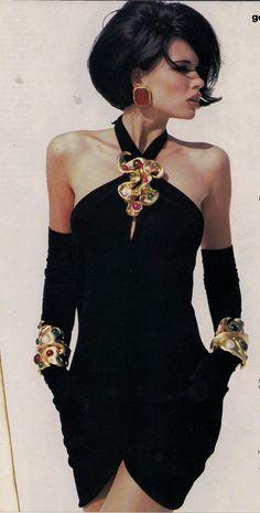 """Chanel, Fall 1990 ariana sexton-hughes notes: """"BRILLIANT."""""""