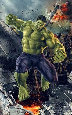 The Avengers attempted to defeat Thanos in Infinity War, and failed dismally. One character who didn't fight, however, was Hulk – who seemingly turned his back on Bruce Banner and the rest of the team. Hulk Marvel, Marvel Comics, Marvel Fanart, Heros Comics, Hulk Superhero, Hulk Comic, Marvel Heroes, Hulk Hulk, Marvel Logo