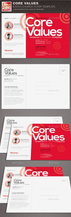 Core Values Church Flyer Template is sold exclusively on graphicriver, it can be used for your Church events, Conventions, Concerts or any occasion that need a clean modern design for promotional purposes. Programs Requirements This template was created in Pho