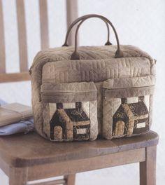 How to make tutorial home house Bag Handbag  purse women sewing quliting quilt patchwork applique pdf pattern. $5.00, via Etsy.