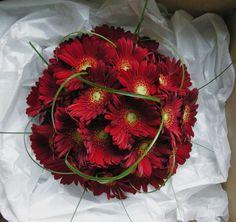 Wedding Flowers Blog: Kim's Wedding Flowers, Red Gerberas, New Place