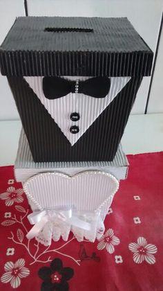 Caixa para sapato e gravata!!! Muito legais e baratas... R$25,00 cada para produzir.