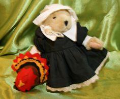 "Muffy Vanderbear in ""Pilgrim 1989"" Outfit~ 7 inch Muffy included N.American Bear"