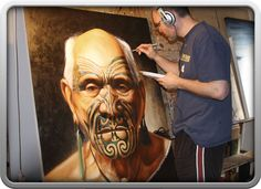 Dave Sotogi creating 2009 Legacy of Honour