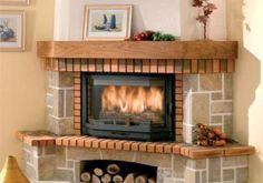 Sofa Living, Living Room, Rustic Fireplaces, Black Sofa, Wood Burner, New Home Designs, Simple House, Country Decor, Home Interior Design