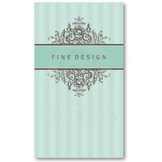 BUSINESS CARD :: beautiful renaissance An elegant design with a vintage flourish about it.