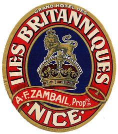 Francia - Nizza - Grand Hotel des Iles Britanniques by Luggage Labels
