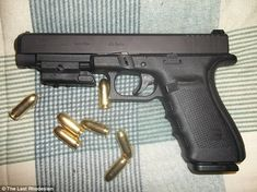 Close-up: Pictured is the .45-caliber weapon Roof was holding in his photograph. According to members of his family, he bought the weapon with birthday money. He is believed to have used it in the massacre