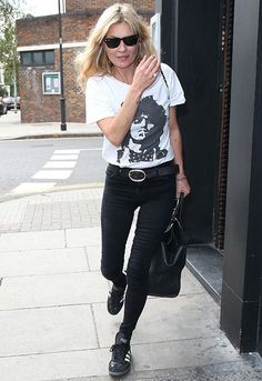 Kate Moss en septembre 2015 à Londres