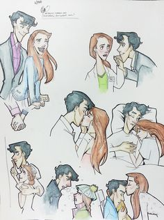 Sherlock Holmes x Molly Hooper: the progression of a relationship. by lexie-sometimes-draws